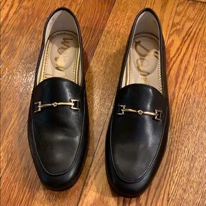 Sam Edelman Lorraine Black Leather Loafers
